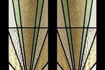 Client Inspiration - Art Nouveau/ Art Deco / Design inspiration based on the Art Nouveau and Art Deco movement in stained glass.