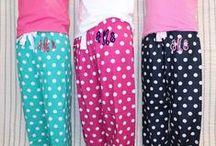 Monogrammed PJ  / monogram pajama pants and boxer shorts