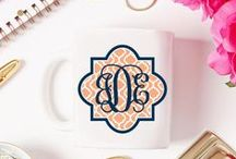 Monogram Addiction 101 / If it's not Monogrammed is it really even yours? We are monogram loving girls.