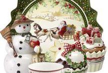 PORCELLANE  christmas dinneware
