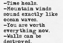 Beautiful Words ~ Poetry / Poetry that touches me.