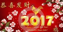 Chinese New Year of the Rooster 2017 - original images for sale / Collection of images (business greeting cards in many languages and web banners) for Spring Festival 2017 - Chinese New Year of the Fire Rooster.  All the images on this board are original and are for sale. If you are interested in buying one or more of them (or other similar images), please contact as at ctrlh80@gmail.com / catalinhulea@gmail.com or visit our portfolio.