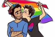 lσνє ιs lσνє / people don'т вecoмe gay, leѕвιan, or вιѕeхυal. people are jυѕт ғallιng ιn love wιтн oтнer people. —  calυм нood