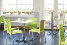 Furniture At Work - The Bistro Range. / A range of bistro tables and chairs answering your furniture at work needs. Office furniture from Furniture at Work