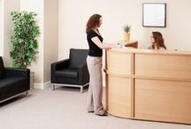Furniture At Work - The Reception Collection / Here at Furniture at Work we understand that your reception area is the first point of contact for any visitors, which is why we offer reception furniture that is stylish, comfortable and welcoming. We have #reception #desks, #chairs & #sofas available. You can browse through our collection here: http://www.furniture-work.co.uk/