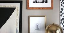 The Gallery Wall / Art To Inspire.  Collecting, grouping and layering your art to make a powerful and interesting statement.