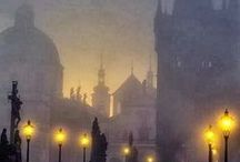 Praha and towns