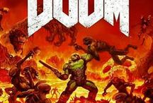 Doom: UAC Marines / Doom is a series (the original being released in 1993) of first-person shooter games developed by id Software. The series focuses on the exploits of an unnamed space marine operating under the auspices of Union Aerospace Corporation (UAC), who fights hordes of demons and undead in order to survive. Doom is considered one of the pioneering first-person shooter games, introducing to computers to 3D graphics, third-dimension spatiality and networked multiplayer game play.