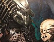 """Predator: Yautja (Artwork) / In the original Predator movie, the character 'Anna Gonsalves' refers to the creature as """"El diablo que hace trofeos de los hombres"""" - The demon who makes trophies of men. However, in expanded universe material the species has been known as the  (Yowt-jah), the Hish or simply the Hunters"""