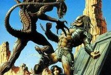 Aliens vs Predator / Alien vs. Predator (film) Alien vs. Predator (also known as AVP or AVP: Alien vs. Predator) is a 2004 science fiction action horror film directed by Paul W. S. Anderson and starring Sanaa Lathan, Lance Henriksen and Raoul Bova.