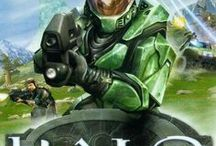 Halo: Combat Evolved / The Halo game series set in the twenty-sixth century. The player assuming the role of the Master Chief, a cybernetically enhanced super soldier, who is accompanied by Cortana, an artificial intelligence who occupies the Master Chief's neural interface. Players battle various aliens as they attempt to uncover the secrets of the eponymous Halo, a ring-shaped artificial world. The games have been commended for elements such as its story and it's musical score.