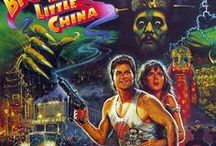 Big Trouble in Little China / Big Trouble in Little China is a 1986 American fantasy martial arts comedy film directed by John Carpenter. It stared Kurt Russell, Kim Cattrall, Dennis Dun & James Hong. The story revolves around Jack Burton, who helps his friend Wang Chi rescue his fiancée from bandits in San Francisco's Chinatown's mysterious underworld, where they face an ancient sorcerer named David Lo Pan, who requires a woman with green eyes to marry him in order to release him from a centuries-old curse.