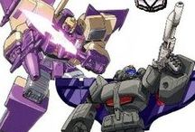 Transformers (G1): Blitzwing & Astrotrain / The Triple Changers Astrotrain and Blitzwing joined Megatron's forces sometime after their leader woke up from a 4-million year sleep. Blitzwing took part in the sacking of Dinobot Island Dinobot Island, Part 1 while Astrotrain helped take over Earth after the Autobots were exiled.