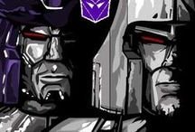 Transformers (G1): Galvatron / Megatron / Galvatron was once Megatron, but was reborn from his death throes in a Faustian pact with Unicron. He retained the memories & spark of Megatron but his personality was significantly altered after the near-death experience, massive physical upgrade & significant reprogramming. All of which eventually caused insanity, split personalities & utter madness consume Galvatron, tearing him between his former life as Megatron & the unwelcome existence as Galvatron which was thrust upon him by Unicron.