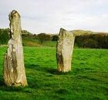 """Kilmartin Glen - historic sites / There are more than 350 ancient monuments within a six-mile radius of the village, with 150 of them being prehistoric. Monuments include standing stones, a henge monument, numerous cists, and a """"linear cemetery"""" comprising five burial cairns. Several of these, as well as many natural rocks, are decorated with cup and ring marks. www.oldmansekilmartin.co.uk"""