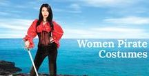 Women Pirate Costumes / One of the best selections of women's pirate coats, shirts, pants and skirts.