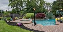 Cool Poolscapes / Making the most of your pool layout with these innovative ideas! Everything from Tiki torches to fire pits.  Feel free to repin to inspire others!