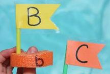 Teaching the Alphabet / Sharing Activities to help children learn letters and letter sounds.  Alphabet Crafts and Games too.  Please visit us at http://theeducatorsspinonit.com/ for more fun activities we do with our children.