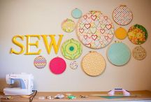 Craft/Sewing Room Ideas / I love to craft and sew. I have found that I need clean and visible organized storage and large open work spaces to do fabric/quilt and scrapbook page layouts. / by Misty Hempel