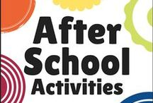 After School Activities & Adventures / A resource for Elementary School Ages full of Activities, Crafts, Playtime and Adventures for your child to provide Enrichment & Support for After School and on the weekends.  As a parent you are your child's first teacher.  Come join us every Monday as we share what we did after school this week in the After School Link Up. Hosted at http://www.theeducatorsspinonit.com/p/after-school-activities.html  / by The Educators' Spin On It