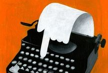 Writing Instruments / Pens, typewriters, paper, quills, and everything else writers use to create their magical worlds.