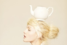 white teapots & cups