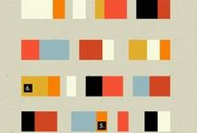 Graphic Design | Color Studies / Cool color combinations and vintage swatches.