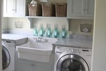 Laundry Space / Let's face it....we spend a lot of time doing laundry! Why not make your space pretty and enjoyable?!?!? / by Misty Hempel