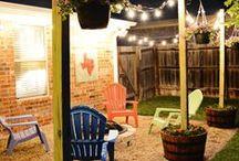 The backyard & garden