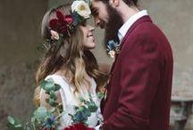 Burgundy Brilliance / Burgundy wedding ideas and inspiration
