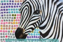 INSPO - Nursery Art / Nursery Art inspo....from monochrome prints to bold bright brushstrokes...see what takes your fancy!