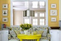 Spring Color Inspiration  / Spring is the perfect time to switch from the neutrals and add some lively color to your home!  Want the feeling that spring colors invoke all year long?  Add spring-inspired colors to your home and stick with them for as long as you'd like!