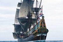 Ships and Pirates at sea / by Jeannie Overman Incognitos