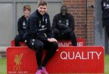 Stevie G. -- Captain Fantastic / Steven Gerrard -- the best midfielder to ever play the game / by Nyla Parker