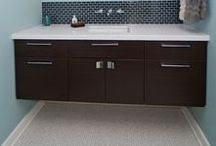Bathroom Vanity / Contemporary, modern, traditional, here are some great ideas for a bathroom vanity that suits your style! #bathroom #vanity