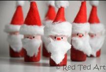 Xmas Crafts / Lots of Christmas Craft ideas for kids and family using ordinary household things you're probably already throwing away.