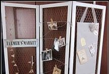 Flea Market Displays / So you're going to display things at the flea market or the craft show?  You should probably go out of your way to draw in the eyeballs from far away.  Here are some great ideas to make people want to stop and stare at your booth awhile.