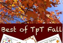 BEST OF FALL TpT / A collection of favorite TpT fall resources. Please post one freebie for every two paid per day. Thanks for Sharing.