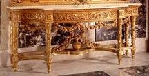 Console and Mirror - #Carved_and_Gilded _Furniture / Antique #Entryway Furniture #Reproductions; #Louis xiv console, Louis xv console table, Louis xvi console, #rococo style console, #rocaille style console, venetian style console, french style console, german style console, italian style console table, mahogany finish console, chippendale style console, biedermeier style console, restauration style console, giltwood console, georgian style console, console desserte and more