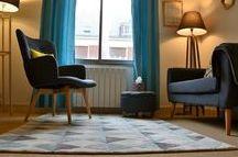 Cabinet psychologique de Margot Duvauchelle / Décoration d'intérieur du cabinet psychologique de Margot Duvauchelle, psychologue clinicienne sur Amiens et spécialisée en TCC. Thème Stockholm