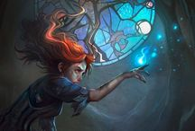 fantasy characters & illustration / Fantasy art. Some sci-fi also. Don't usually bother with the captions