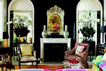 Black Interiors / To me black is like white is to most people, it goes with everything. Black makes colors come alive, brings drama to a room, has that timeless appeal, and is oh so elegant. I use a touch of black in about every room I design.