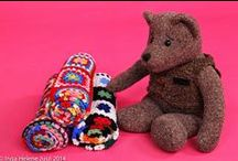 Bear the Pooh's crochet favourites / Crocheted, grannysquare projects