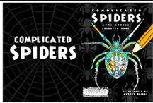 Complicated-Spiders / Anti Stress coloring book for grownups and spider fans. http://www.amazon.com/Complicated-Spiders-Anti-Stress-Coloring-Book/dp/1514878658