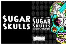 Day of the Dead - Sugar Skulls - Anti-Stress coloring book for grown-ups / An adult coloring book featuring a selection of sugar skulls to color in.