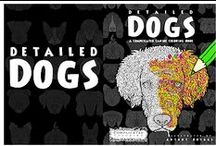 Detailed Dogs - Adult Coloring Book / Detailed Dogs - a Complicated Canine Coloring Book by Complicated Coloring.  Out now on Amazon:http://amzn.to/1MbHJax  http://www.ComplicatedColoring.com