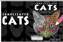Complicated Cats - A Fiddly Feline Coloring Book / Complicated Cats - A Fiddly Feline Coloring Book.  Out now on Amazon.  USA shortlink: http://www.amztk.com/catbook UK shortlink: http://www.amztk.com/catcolouring