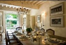 More Lovely Dining Rooms / Old world dining room, Louis XIV mantle, portieres