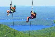 NH Summer Adventures / Summers in New Hampshire are full of adventure. Theme parks, historic sites, aerial mazes, and thousands of hiking trails offer endless entertainment.