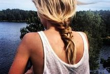 h a i r s / Lovely hairs. Knots. Braids. Pony tails.